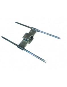 clip de brocheta doble para asador de pollos 160X55mm pincho 4mm tubo 12mm
