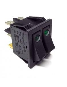 interruptor basculante medida de montaje 30x22mm verde - verde 1NO/1NO/lámpara 250V 20A iluminado ECO1C-003