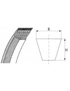 correa trapezoidal perfil 8 L 580mm ancho de correa 8mm Z580 Z22