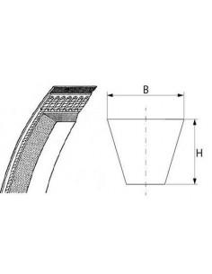 Correa trapezoidal A/13 L 686mm ancho de correa 13mm H 8mm Cortadora de pan MQ-32