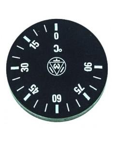 pomo termostato T máx 90°C 0-90°C ø 42mm eje ø 6x4,6mm parte plana arriba negro Campeona CF-Cenedese, Univer-Bar