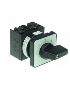 Conmutador giratorio 4 0-1-2-3 juegos de contactos 4 tipo T0-2-171/E 400V 16A Scholl