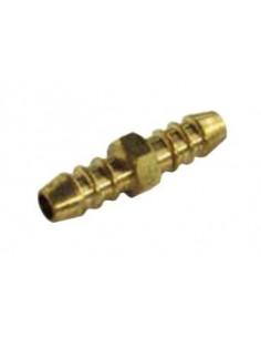Doble tetina latón Ø10 para unión de mangueras 14602 Gas Butano Propano