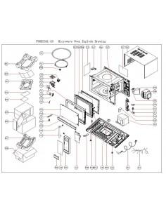 Soporte mecanismo Microondas Eutron P90D25AL-G3 P23