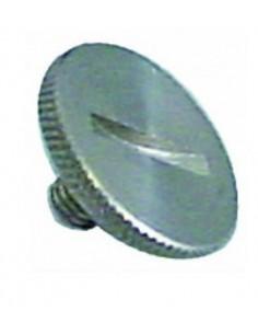 tornillo de cabeza moleteada rosca M5 rosca L 7mm ø 20mm H 3mm inox Fagor Q152016000 12009829