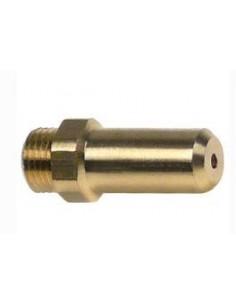 Boquilla de gas rosca M10x1 taladro ø 1,25mm L 30m