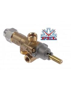 grifo de gas PEL tipo 21S boquilla bypass ø 0,35mm eje ø 8x6,5mm longitud eje 22/15mm 9PEL.10109.50 101095