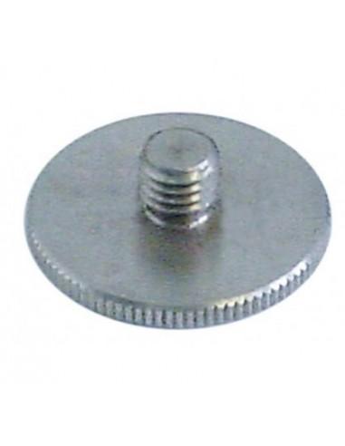 tornillo de cabeza moleteada rosca M8 517066 Dihr, Kromo, Olis