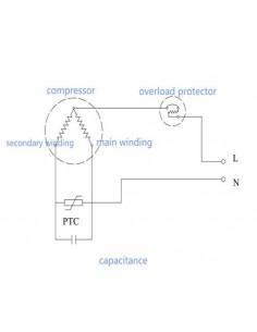 Compresor refrigerante R600A ZEL HML140A   HS-384