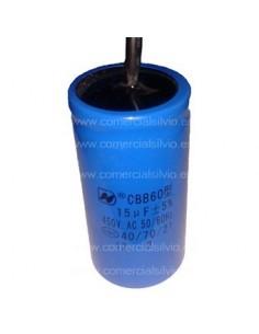 Condensador de arranque Capacidad 15µF 450v  CBB60 50-60Hz TC12