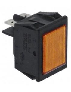 Lámpara de señalización medida 30x22mm amarillo