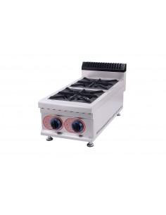 Cocina Sobremesa  a Gas 2 Quemadores  GBR-2