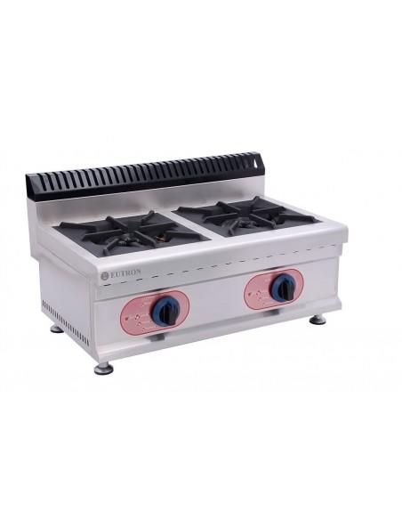 Cocina Sobremesa  a Gas 2 Quemadores  GBR-2H