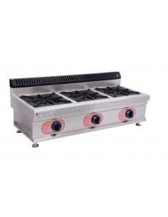 Cocina Sobremesa a Gas 3 Quemadores  GBR-3