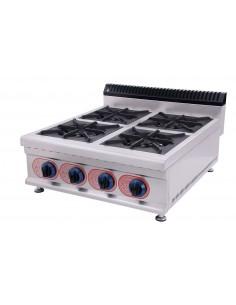 Cocina Sobremesa a Gas 4 Quemadores  GBR-4