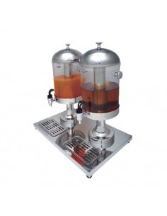 Dispensador de zumos capacidad 8+8 litros
