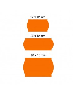 Etiquetas Flúor (Caja de 40 rollos)
