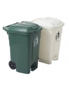 Contenedor de desperdicios con tapa y ruedas 70L