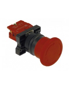 interruptor cabeza de hongo medida de montaje ø22mm 1NC PARO DE...