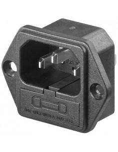 Conector alimentación IEC C14 de entrada Europeo para chasis con...