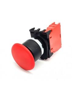 Pulsador cabeza de hongo medida de montaje ø22mm 1 NC Paro de...