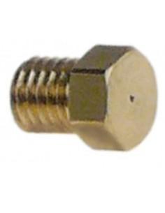 boquilla de quemador piloto gas natural código 40 taladro ø 0,4mm rosca M4,5x0,5 UE 1 pzs latón Turhan