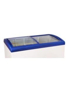 Puerta Cristal Curvo Azul Congelador Arcón SC-SD-388Y